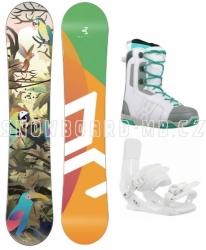 Juniorský dívčí snowboardový komplet Beany Birdie s motivem papoušků