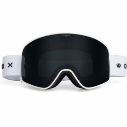 Snb a ski brýle Woox Opticus Temporarius White/Ble s tmavým černým sklem a bílým páskem