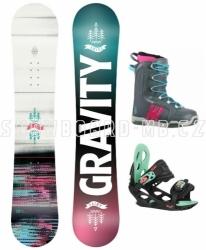 Juniorský dívčí snb komplet Gravity Fairy s botami Westige Ema grey/pink 36, 37