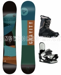 Dětský freestyle/allmountain snowboard komplet Gravity Empatic junior