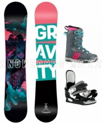 Juniorský dívčí snowboard komplet Gravity Thunder s vázáním a botami Westige