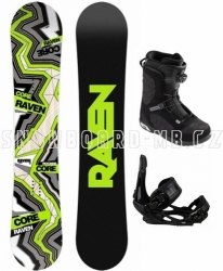 Pánský snowboard komplet Raven Core Carbon s boatmi se stahováním kolečkem Boa