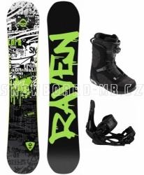 Allmountain snowboard komplet Raven Core s botami s Boa utahováním