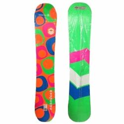 Dámský snowboard FTWO NeonDeck Lady se svítivými reflexními barvami