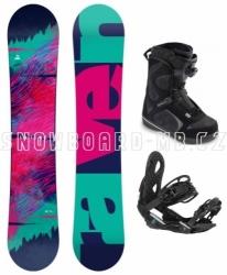 Dámský snowboard komplet Raven Satine s botami Head s kolečkem Boa