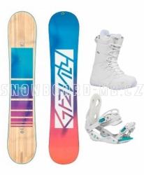 Dámský snowboardový komplet Gravity Trinity 2020/21 s vázáním a botami