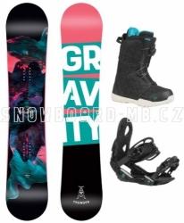 Dámský snowboard komplet Gravity Thunder s vázáním a botami s utažením kolečkem
