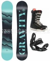 Dámský snowboard komplet Gravity Sirene 2020/21 blue/black