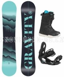 Dámský snowboardový komplet Gravity Sirene s vázáním a boty s kolečkem Atop