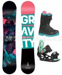 Dětský dívčí snowboard set Gravity Thunder Junior s botami s kolečkem