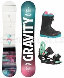 Dětský dívčí snowboard komplet Gravity Fairy s botami s kolečkem