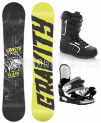 Dětský snowboardový komplet Gravity Flash s vázáním Westige a botami Raven