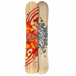 Dámský snowboard Raven Explosive wood/orange 2012