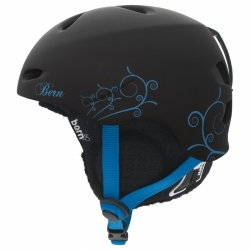 Dámské audio helmy na snowboard, helma Bern Berkeley black/blue