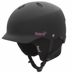 Dámská helma BERN Lenox AUDIO se sluchátky, snowboard přilba matná černá