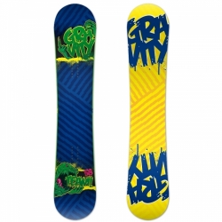 Snowboard Gravity Team, reverse camber opačné prohnutí snowboardu