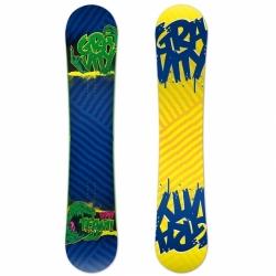 Twintip snowboard Gravity Team wide, široké snowboardy rocker camber