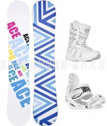 Dámský snowboardový komplet Ace Liaison S2, dámské bílé snowboardové komplety