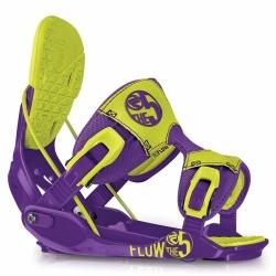Vázání na snowboard pánské Flow The Five toxic fialové/zelené