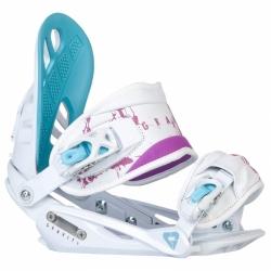 Dámské vázání na snowboard Gravity G1 Lady white/blue bílé/modré